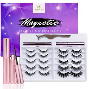 Arishine 3D 6D Magnetic Eyelash and Eyeliner Kit