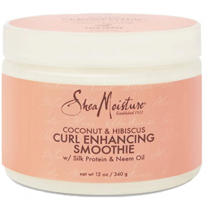 SheaMoisture Smoothie Curl Enhancing Cream for Thick, Curly Hair Coconut and Hibiscus Sulfate Free and Paraben Free