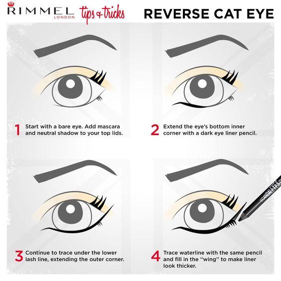 how to do reverse cat eye
