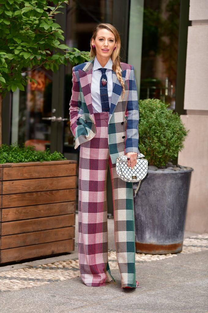 Blake Livley Roland Mouret Plaid Suit