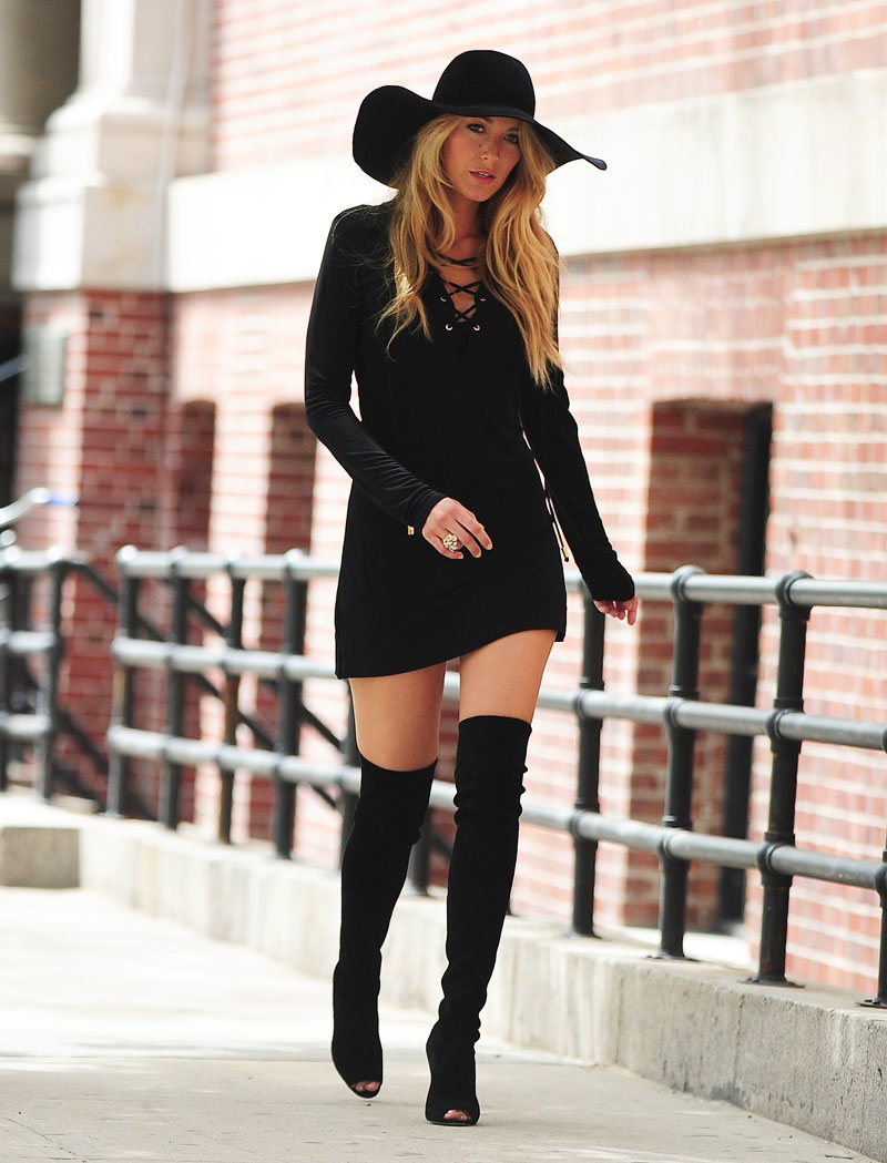 Blake Lively Open Toe Boots