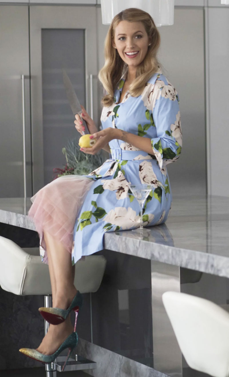 Emilys Blue Floral Dress in the Movie A Simple Favor