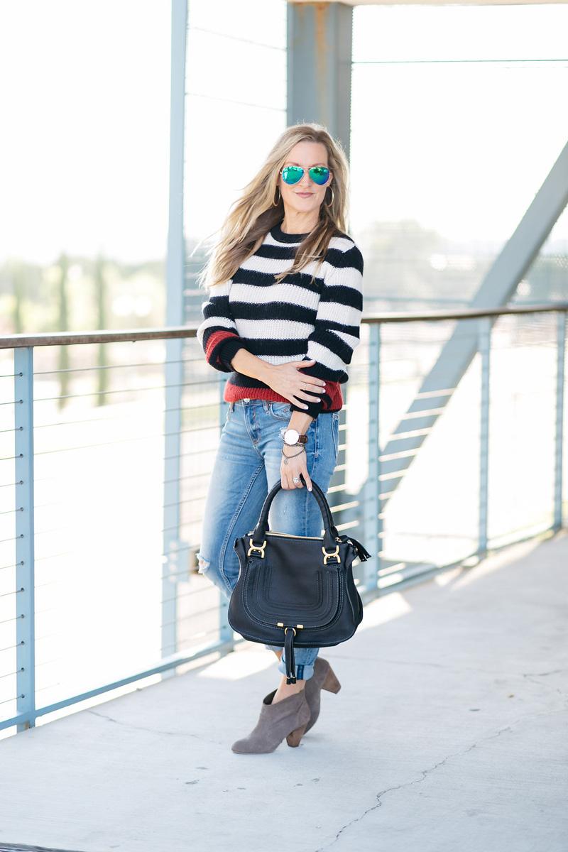celebrity-style-iro-stripe-sweater