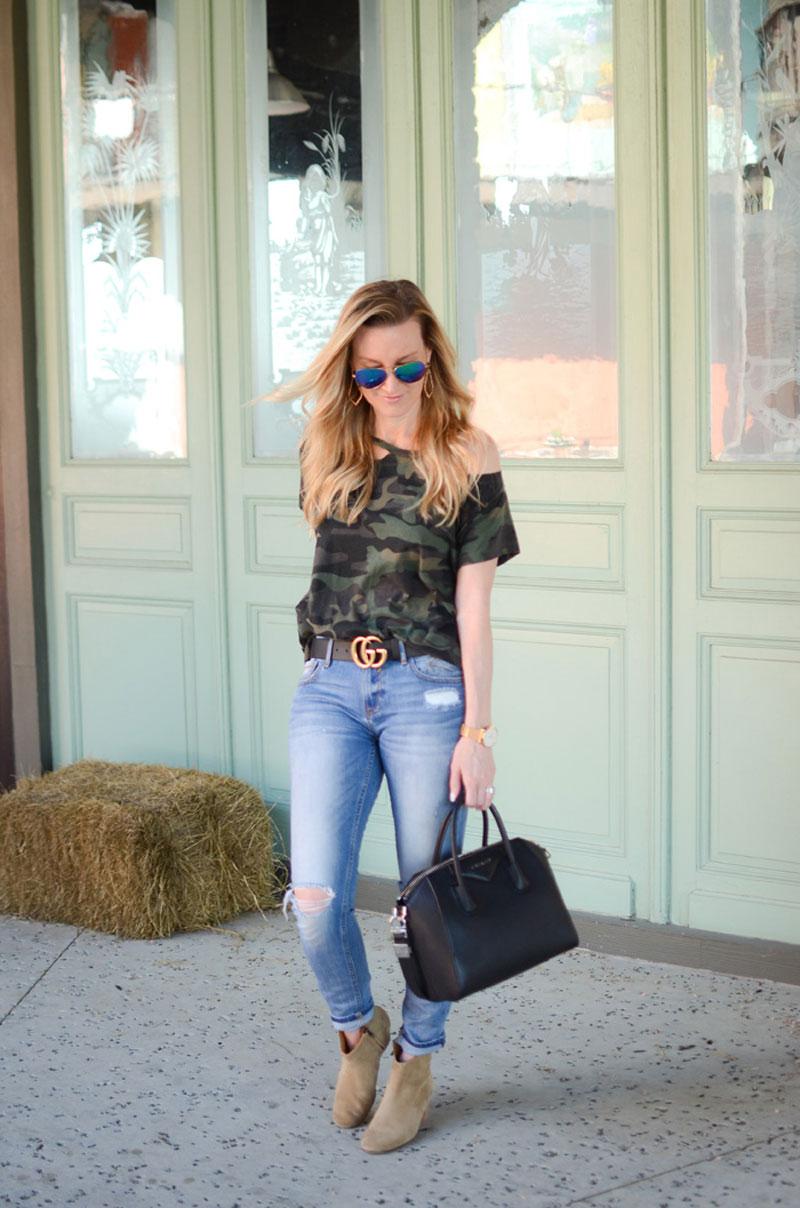 How Celebrities Wear The Camo Trend