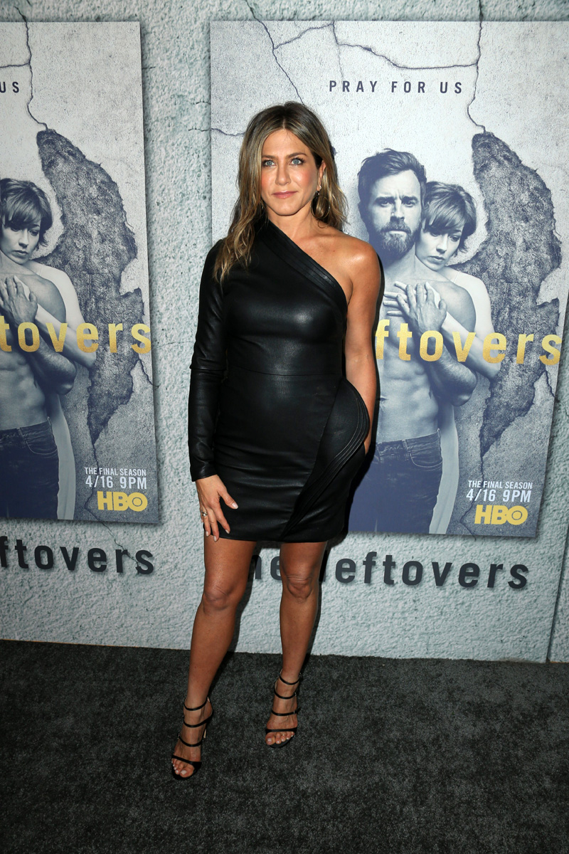 Jennifer-aniston-wearing-Brandon-Maxwell-leather-dress