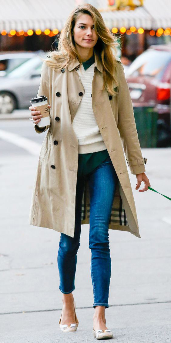 Jessica-Hart-burberry-trench-coat