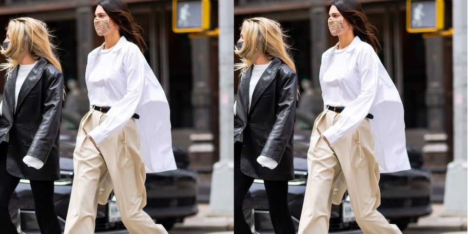 Kendall Jenner wearing The Row shirt