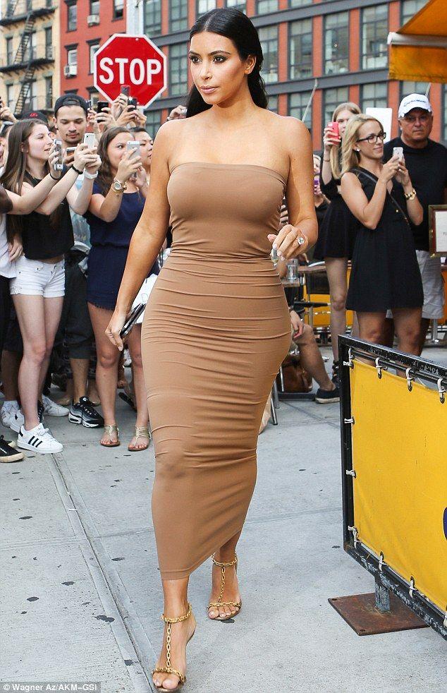 Kim Kardashian wearing Wolford's Fatal Dress