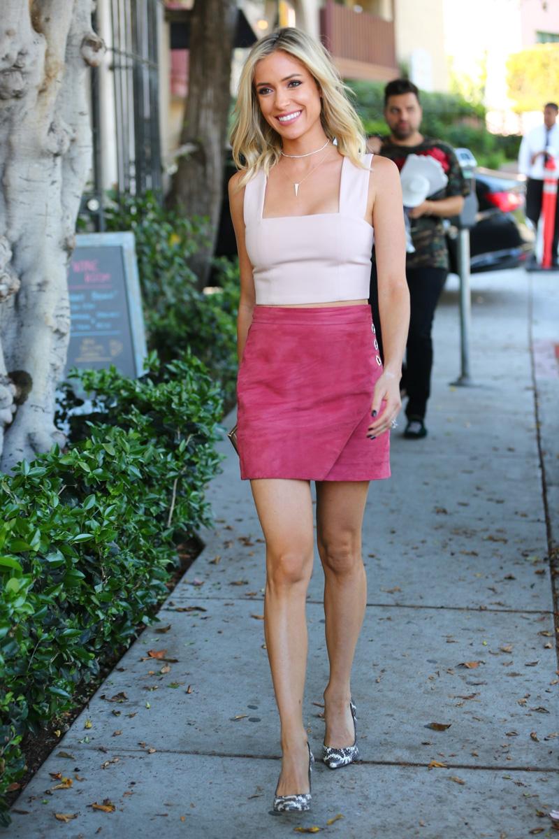 Michelle-Mason-Rose-Suede-Grommet-Mini-Skirt-worn-by-kristin-cavallari