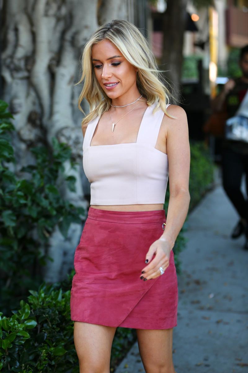 Michelle-Mason-Suede-Grommet-Skirt-worn-by-kristin-cavallari