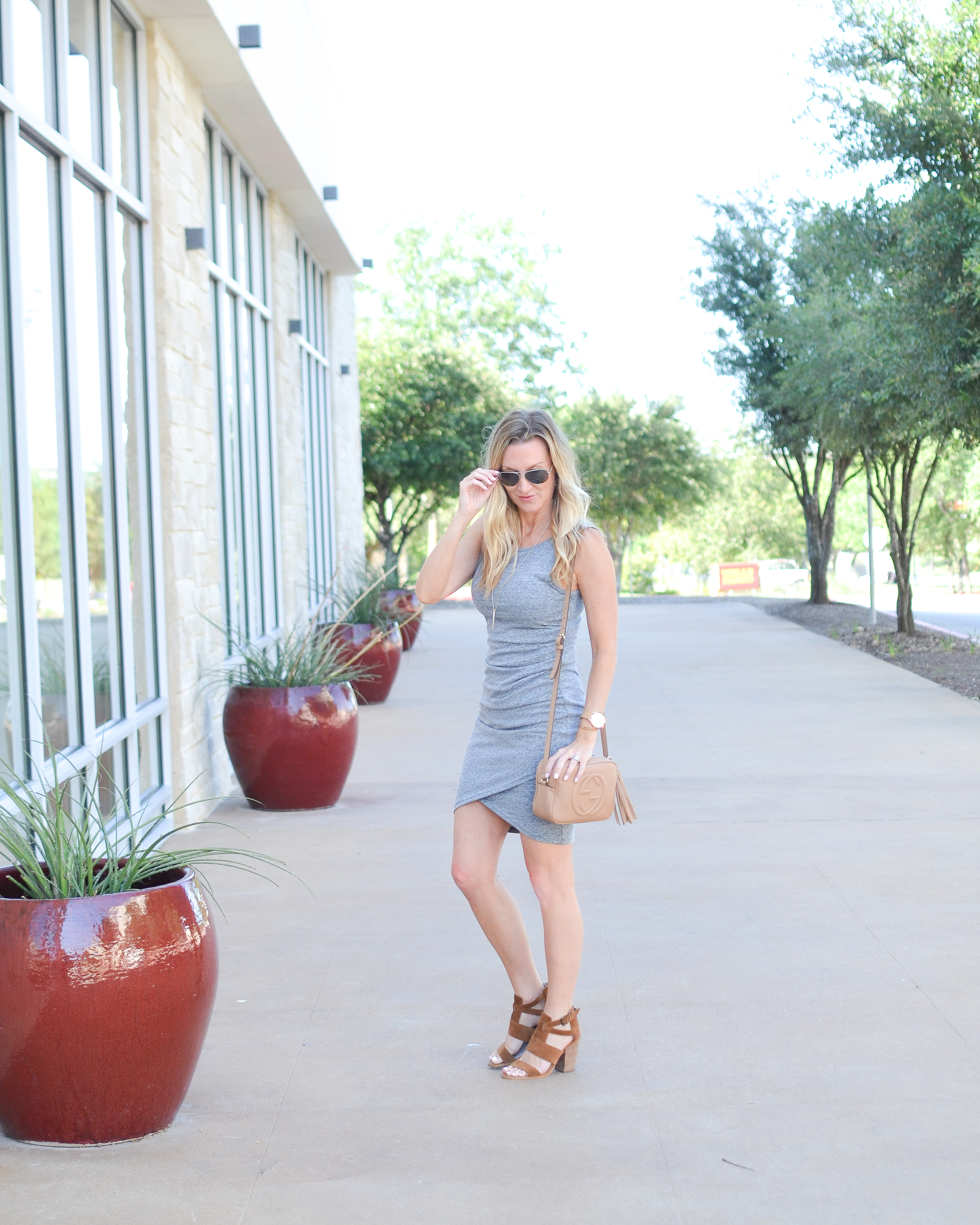 Ruched Body-Con Tank Dress LEITH