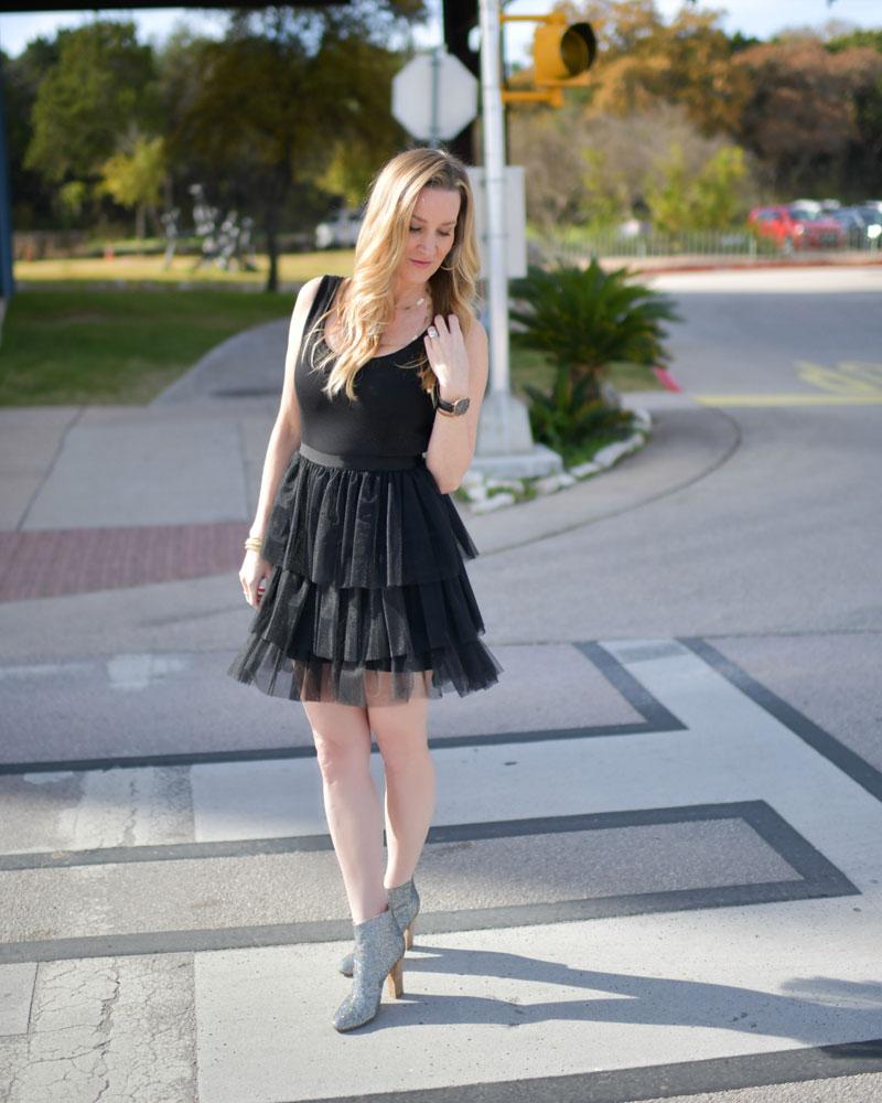 SJP by Sarah Jessica Parker Black Title Dress