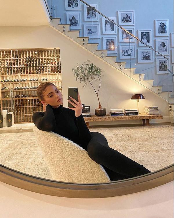 selfie in living room