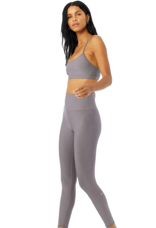 Alo Yoga's 7/8 High-Waist Airlift Legging, purple dusk