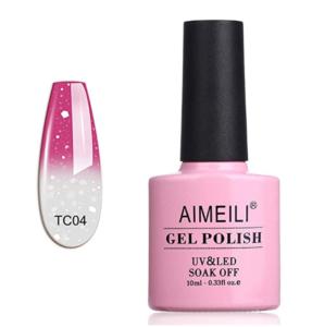 AIMEILI Soak Off UV LED Temperature Color Changing Chameleon Gel Nail Polish
