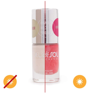 Del Sol Color-Changing Nail Polish - I Lily Like You - Changes Color from White to French Rose Pink in the Sun - Quick dry, 5-Free Nail Lacquer