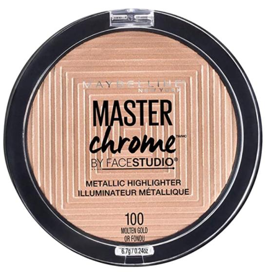 Maybelline Master Chrome Metallic Highlighter Powder, Molten Gold