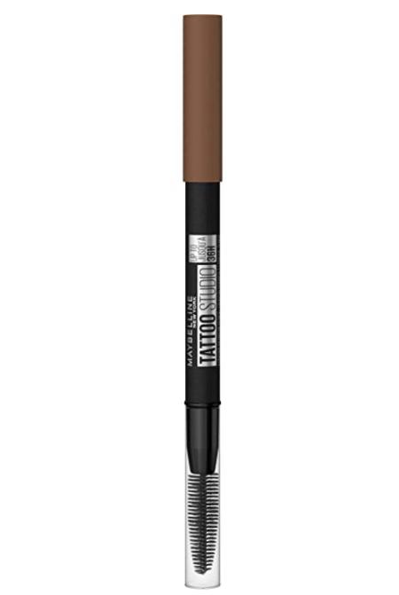 Maybelline TattooStudio Sharpenable Waterproof Eyebrow Pencil, Soft Brown