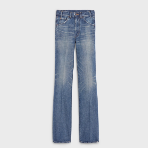 Celine Flared Jeans in Union-Wash Denim Twill