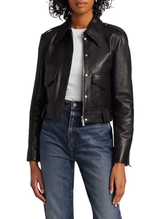 KHAITE, The Cordelia Lambskin Leather Jacket