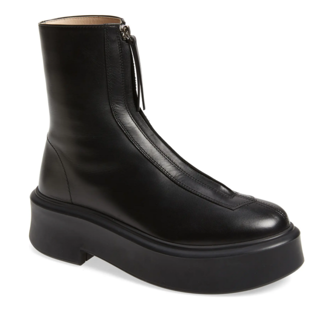 The Row in the form of their Zip Platform Bootie