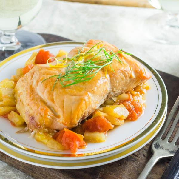 rilled Salmon with Tomato