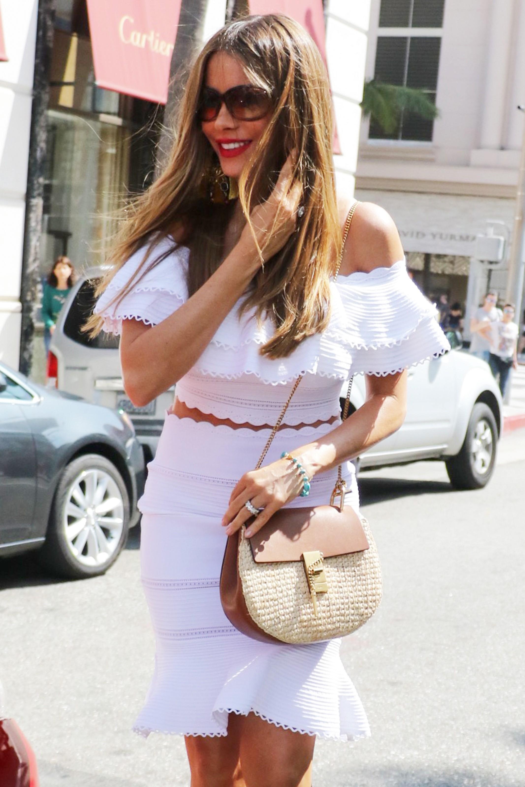 Sofia Vergara-wearing-alexander-mcqueen-ruffle-crop-top