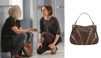 90210 Style! Kelly Taylor's Cole Haan Whitney Zip Hobo from 90210 Episode 210!