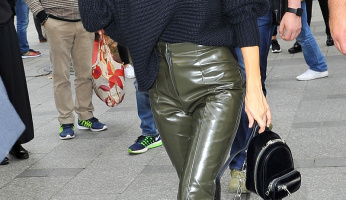 Kourtney Kardashian Shows Us Why Vinyl Pants Should Be High On Your Shopping List For Fall