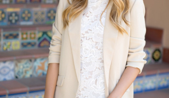 Best Blogger Look: Gal Meets Glam Boyfriend Blazer & Lace Dress