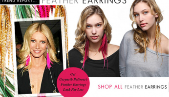 Trending: Feather Earrings