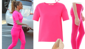 GET THE LOOK: J. Lo Brings The Heat In A Hot Pink Number