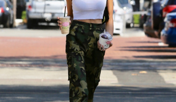 Kaia Gerber Can't Hide Her Style, Even In Camouflage Pants