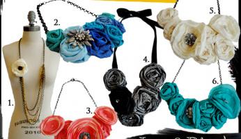 Celebrity Style Trend Report: Flower Embellished Necklaces