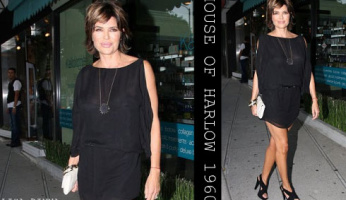 Every Hot Celebrity Has The House of Harlow 1960 Black Starburst Necklace!
