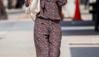 Katie Holmes Gets Wild With Her Style In A Leopard Jumpsuit