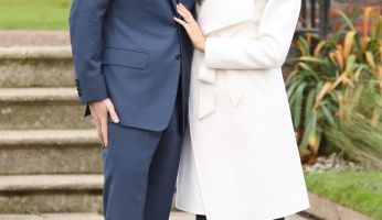 Style Princess Meghan Markle Wears A Line The Label White Wrap Coat For Engagement Announcement