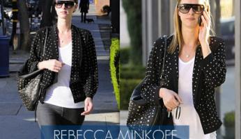 Rebecca Minkoff Linear Stud Darling in Black Cat