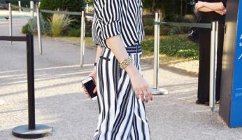 Olivia Palermo Styles Stripes on Stripes
