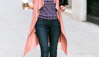 The Blush Faux Trench