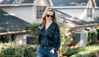 How High Waisted Jeans Make an Oversize Shirt Look Polished
