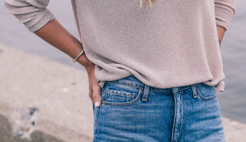 Oversized Sweaters and Denim Cutoffs