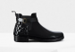 Slim Fit Quilted Gloss Chelsea Boots