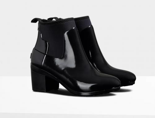 Gloss Mid Heel Boots