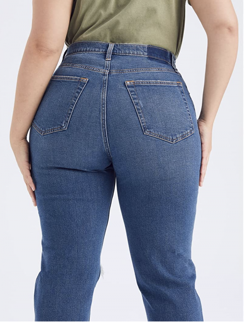 Abercrombie Curve Love 90s Ultra High Rise Straight Jeans