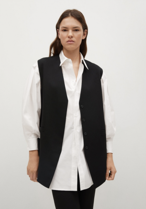 Mango Buttons Suit Waistcoat