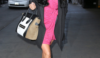 Trending: Shay Mitchell's Printed Wrap Dress