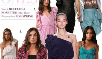 Celebrity Spring Style! Ruffles + Rosettes Romance the Runway