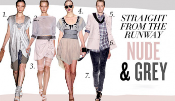 Get Celebrity Style Straight From The Runway...Nude & Grey!