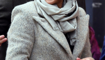 Meghan Markle Wrapped Up In A Smythe Camel Coat